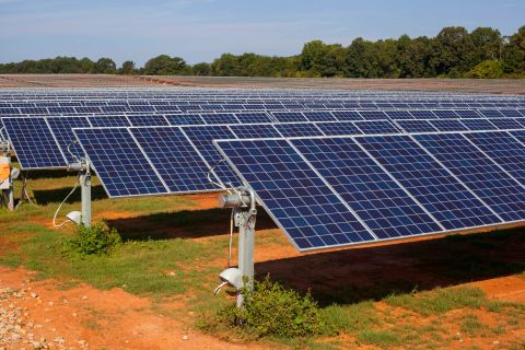 The Grazing Yak Solar Energy Project will feature photovoltaic solar panels like the ones at the River Bend Solar Energy Center in Lauderdale County, Alabama. Photo submitted